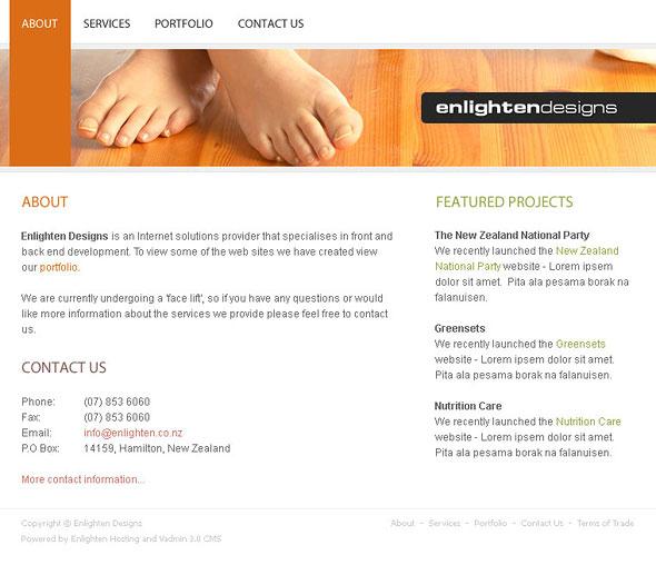 Web Sitemizin görünümü